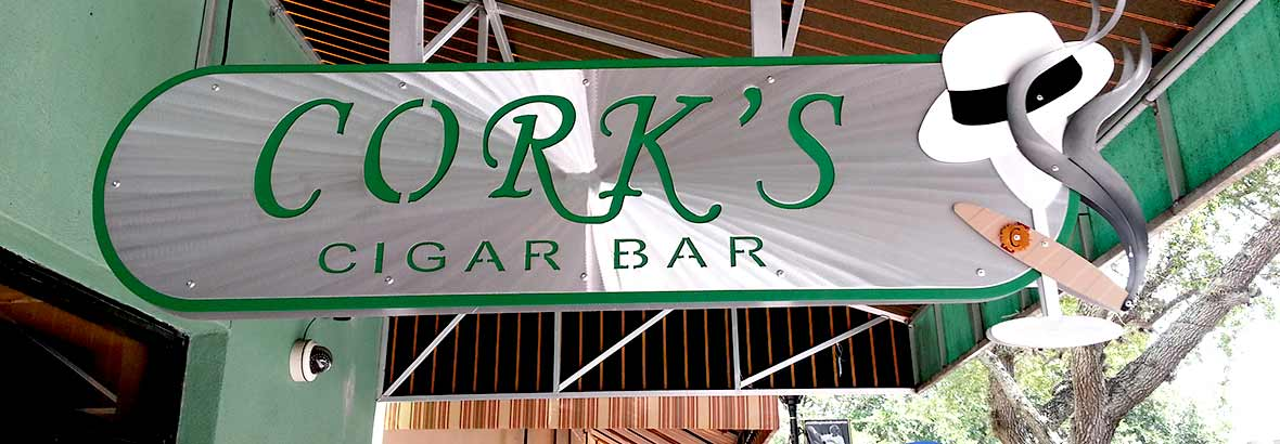 Cork's Cigar Bar Signage